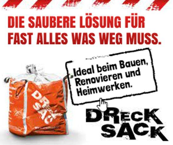Drecksack - Die sauber Lösung für fast alles was weg muss. Ideal beim Bauen Renovieren und Heimwerken